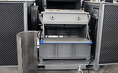 plastic compact soundproofed granulators access