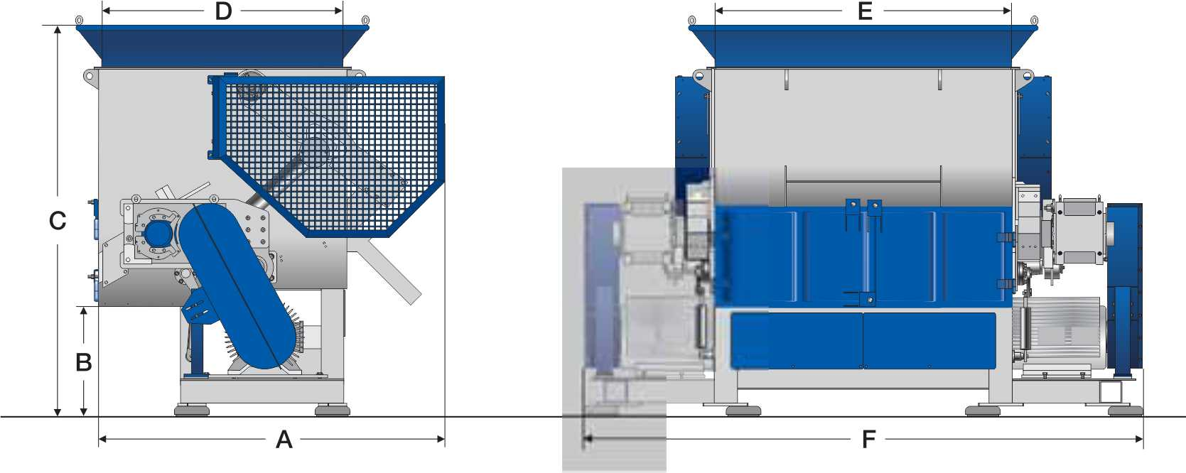 general purpose industrial shredders design
